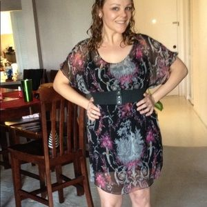 BETSEY JOHNSON FLORAL DRESS MADE IN USA SIZE M